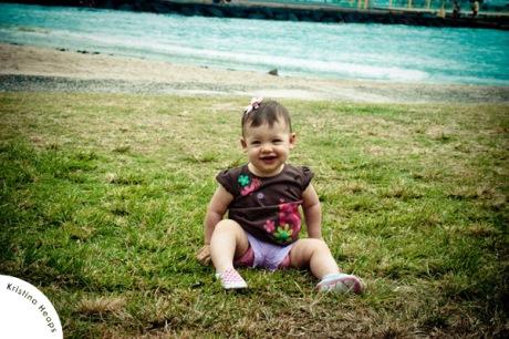 Fiona on grass