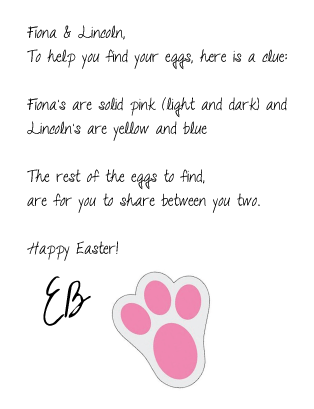 Easter bunny letter template free merry christmas and happy new easter bunny letter template free spiritdancerdesigns Choice Image